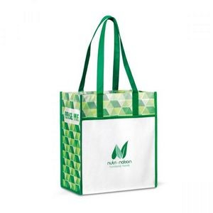 Horizons Laminated Shopper Green